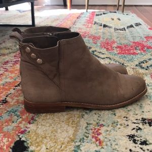 Sole Society tan booties